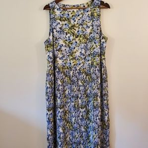 J. JILL  shift dress size large floral print